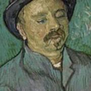 Portrait Of A One Eyed Man Saint Remy De Provence  Autumn 1889 Vincent Van Gogh 1853  1890 Art Print
