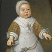Portrait Of A One-year-old Girl Of The Van Der Burch Family Three-quarter Length Art Print