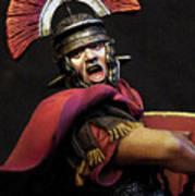 Portrait Of A Roman Legionary - 11 Art Print