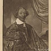 Portrait Of A Seated Man Art Print