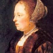Portrait Of A Woman 1640 Art Print