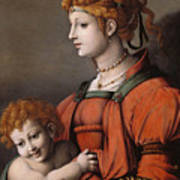 Portrait Of A Woman And Child - Allegory Of Liberality Art Print