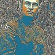 Portrait Of A Young  Wwi Soldier Series 16 Art Print