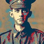 Portrait Of A Young  Wwi Soldier Series 19 Art Print