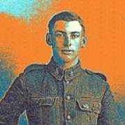 Portrait Of A Young  Wwi Soldier Series 6 Art Print