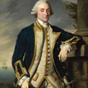 Portrait Of Admiral Sir Hugh Palliser 1st Bart Art Print