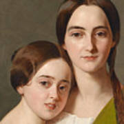 Portrait Of Alexandrine Pazzani And Her Cousin Caroline Von Saar According To Family Tradition Art Print