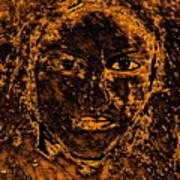 Portrait Of An Ancient Woman Art Print