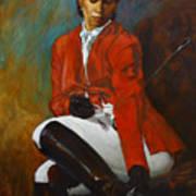 Portrait Of An Equestrian Art Print