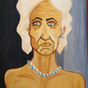 Portrait Of An Old Woman Art Print