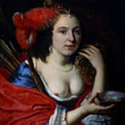 Portrait Of Anna Du Pire As Granida Art Print