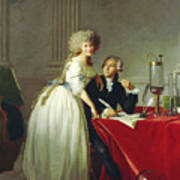 Portrait Of Antoine-laurent Lavoisier And His Wife Art Print
