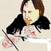 Portrait Of Artist Art Print