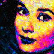 Portrait Of Audrey Hepburn Art Print