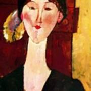 Portrait Of Beatrice Hastings Before A Door 1915 Art Print