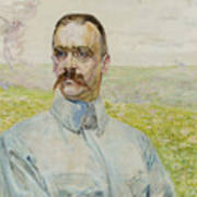Portrait Of Brigadier Jozef Pilsudski Art Print