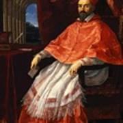 Portrait Of Cardinal Roberto Ubaldini 1625 Art Print