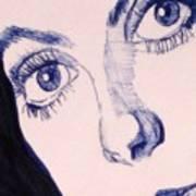 Portrait Of Catherine Close Up Details Art Print