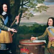 Portrait Of Charles I And Sir Edward Walker Art Print
