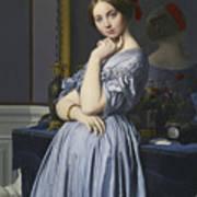 Portrait Of Comtesse D'haussonville Art Print