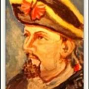 Portrait Of Conrad As British Soldier Art Print