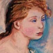 Portrait Of  Country Girl Art Print