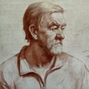 Portrait Of Elderly Man Art Print
