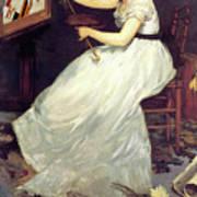 Portrait Of Eva Gonzales 1870 Art Print