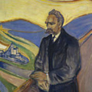 Portrait Of Friedrich Nietzsche Art Print