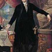 Portrait Of George Washington Art Print