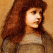 Portrait Of Gertie Lewis Art Print