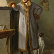 Portrait Of Gottlieb Christian Heigelen As A Hunter Art Print