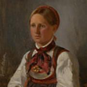 Portrait Of Gunild Olsdatter From Tinn Art Print