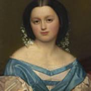 Portrait Of Henriette Mayer Van Den Bergh, At And By Jozef Van Lerius Art Print
