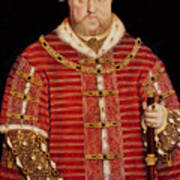 Portrait Of Henry Viii Art Print by Hans Holbein the Younger