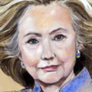 Pastel Portrait Of Hillary Clinton Art Print