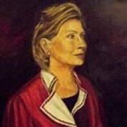 Portrait Of Hillary Clinton Print by Ricardo Santos-alfonso