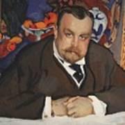 Portrait Of Ivan Morozov 1910 Valentin Serov Art Print