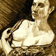 Portrait Of Jacqueline Art Print