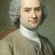 Portrait Of Jean Jacques Rousseau Art Print