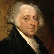 Portrait Of John Adams Art Print by Gilbert Stuart