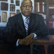 Portrait Of John Lewis Art Print