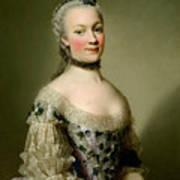 Portrait Of Katarzyny Z Zamoyskich Mniszchowej Art Print
