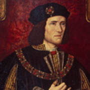 Portrait Of King Richard IIi Print by English School