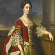 Portrait Of Lady Elizabeth Compton Later Countess Of Burlington Art Print