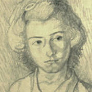 Portrait Of Lenore Art Print