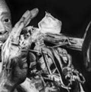 Portrait Of Louie Armstrong Art Print by Carrie Jackson