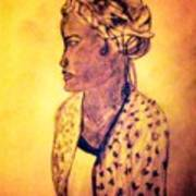 Portrait Of Lovely African Woman Art Print