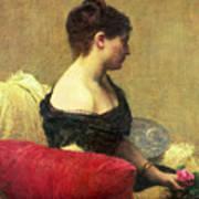 Portrait Of Madame Maitre Art Print by Ignace Henri Jean Fantin Latour