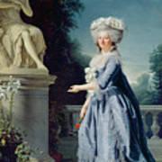 Portrait Of Marie-louise Victoire De France Art Print by Adelaide Labille-Guiard